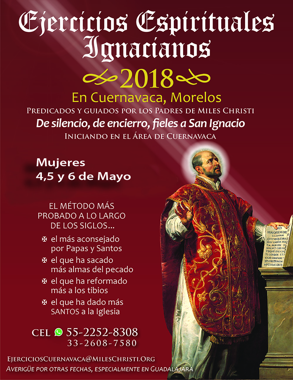Ejercicios Espirituales Ignacianos Retiros Cuernavaca Mexico 2018