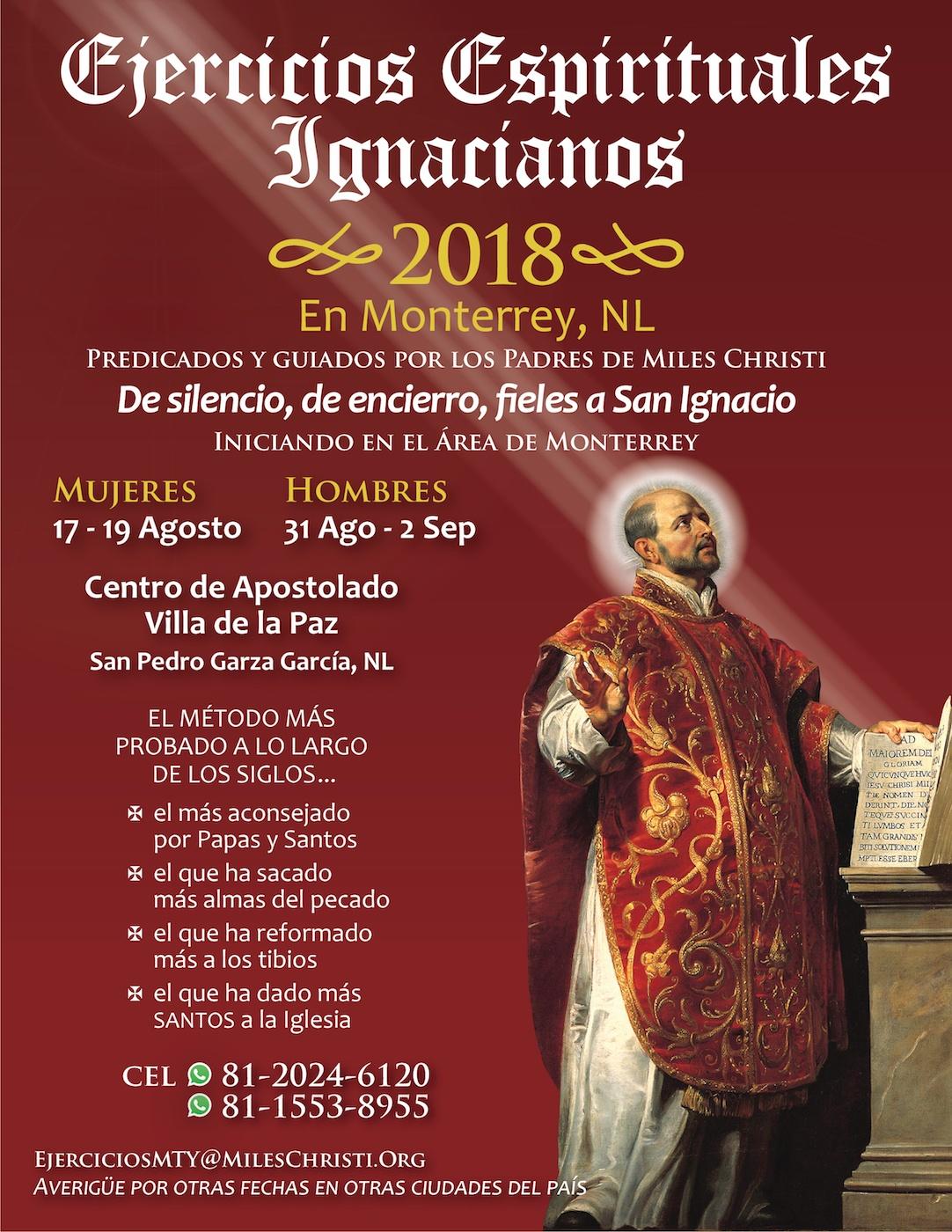 Ejercicios Espirituales Ignacianos Retiros Monterrey Mexico 2018