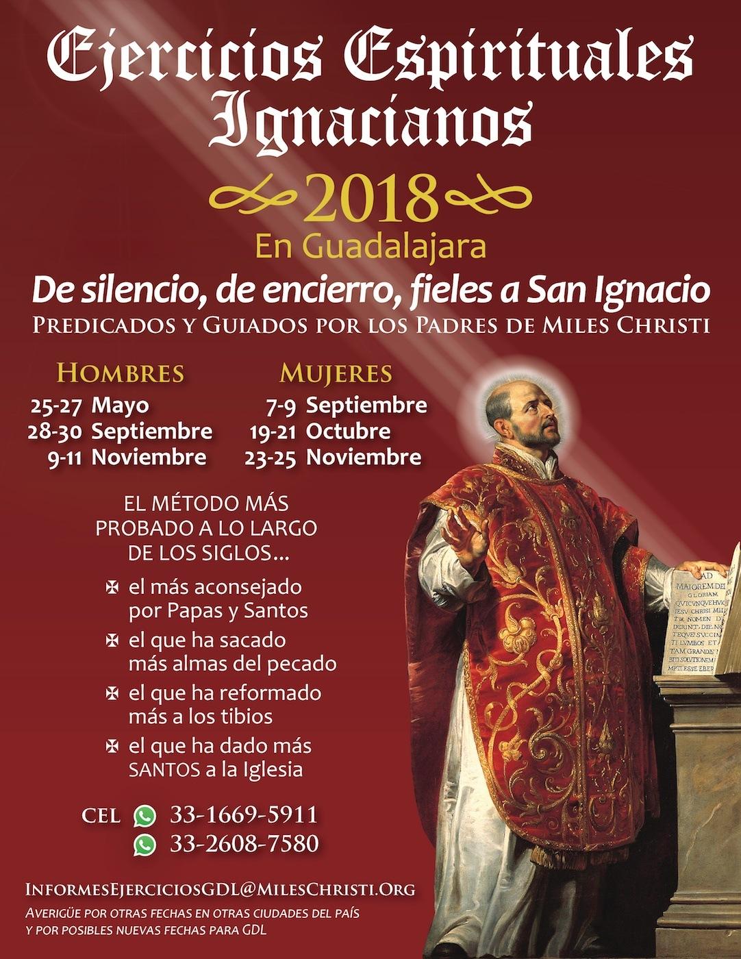 Ejercicios Espirituales Ignacianos Retiros Mexico 2018